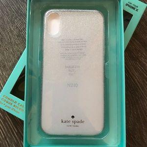 kate spade silver glitter ombré iPhone X case